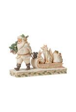 Woodland Santa/Animals on Sled