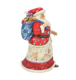 Santa with Bag Over Shoulder