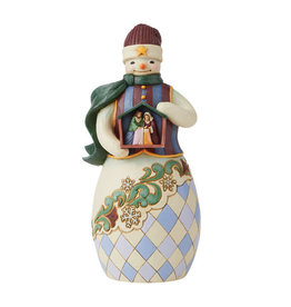 Snowman Holding Nativity Stable