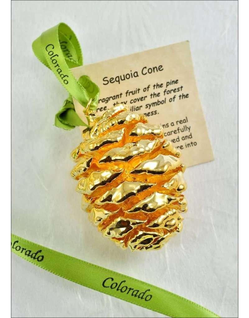 The Rose Lady Gold Preserved Sequoia Pinecone