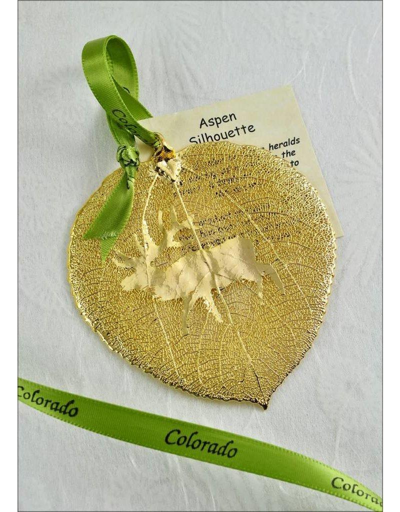 The Rose Lady Gold Elk Aspen Leaf