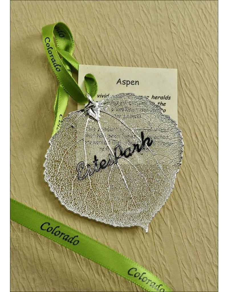 The Rose Lady Silver Estes Park Aspen Leaf