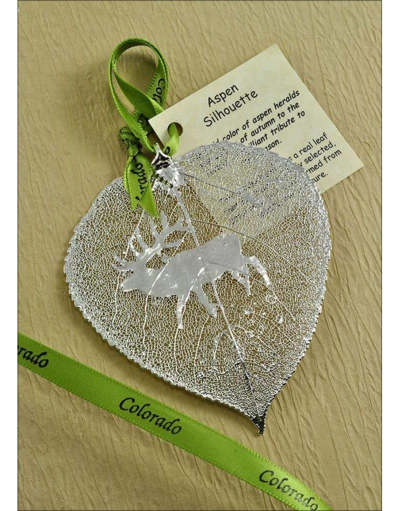 The Rose Lady Silver Elk Aspen Leaf