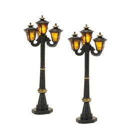 Department 56 Victorian Street Lamps Set of 2 for Department 56 Village