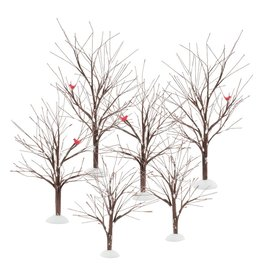 Department 56 Bare Branch Trees Set of 6 for Department 56 Village