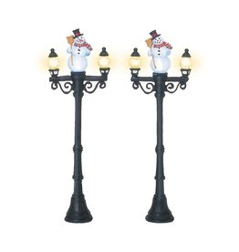 Department 56 Snowman Street Lights Set of 2 for Department 56 Village