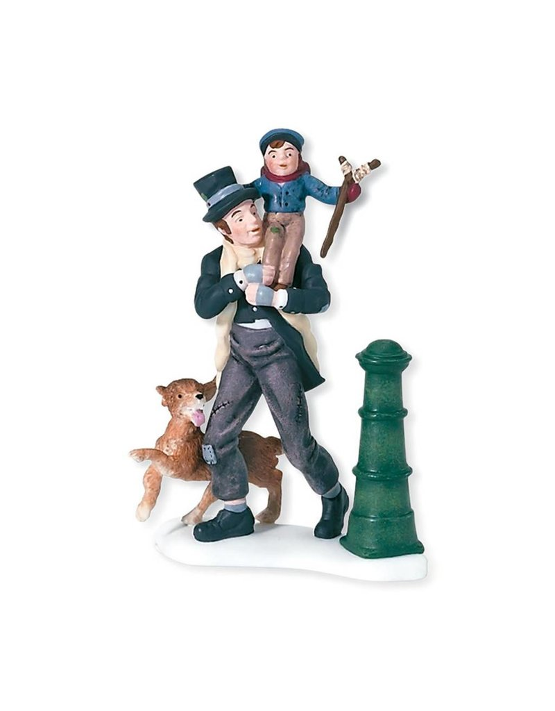 Department 56 Bob Cratchit & Tiny Tim for Dickens A Christmas Carol Village