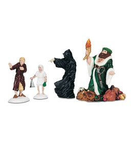 Department 56 Christmas Carol Visit Set of 4 for A Christmas Carol Village
