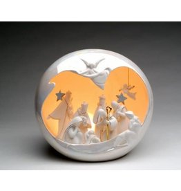 Appletree Large White Nativity