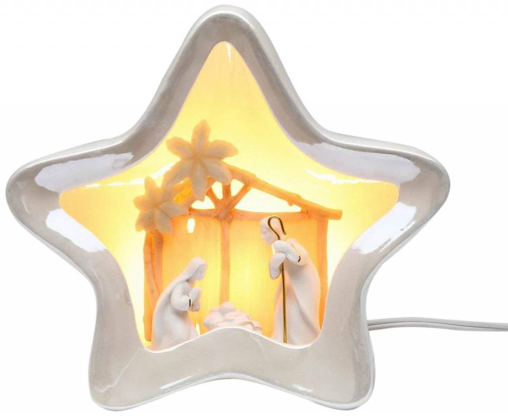 Appletree Star Shaped Nativity Night Light