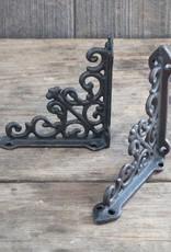 Decorative Scroll Bracket - Black