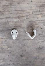 Cast Iron Mini Hook - White