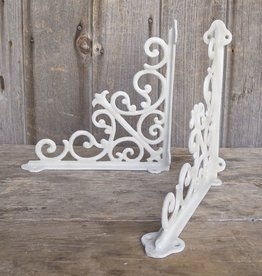 Decorative Scroll Bracket - White