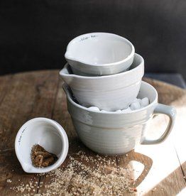 Grey Stoneware Measuring Cups