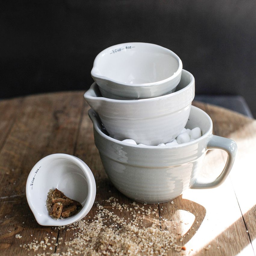 New Grey Stoneware Measuring Cups