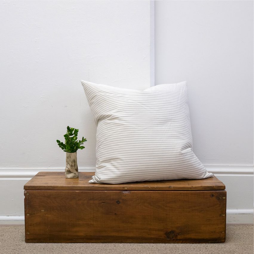 Cotton Ticking Cushion