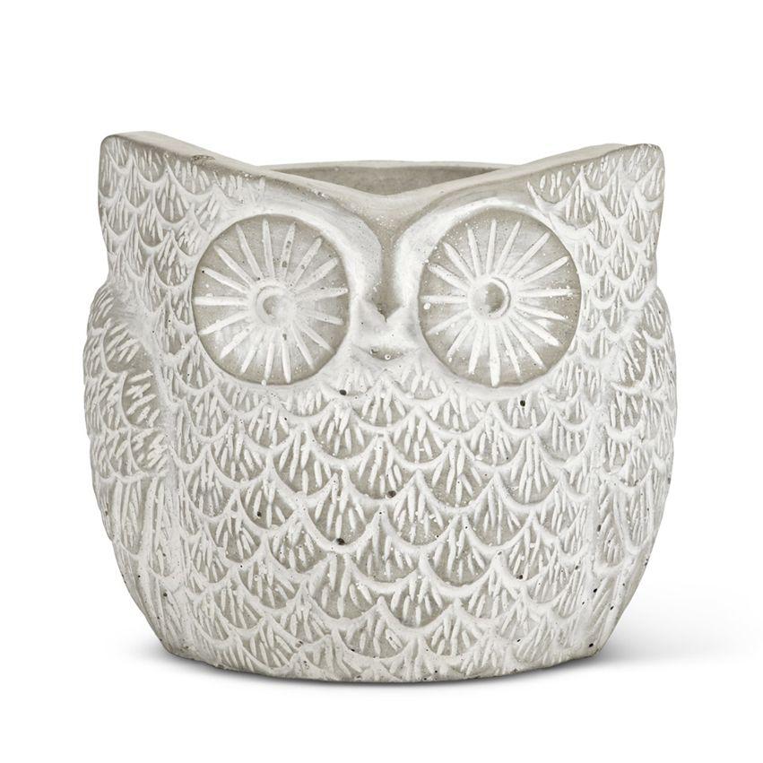 New Cement Owl Planter