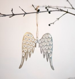 Pierced Tin Angel Wing Ornament