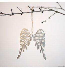 New Pierced Tin Angel Wing Ornament