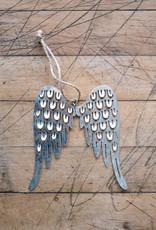 Pierced Tin Angel Wing Ornament