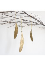 New Antiqued Finish Feather Ornament