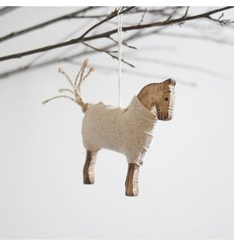 New Carved Wooden Horse Ornament