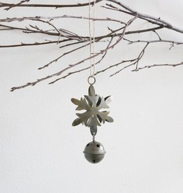 Antiqued Brass Snowflake Ornament