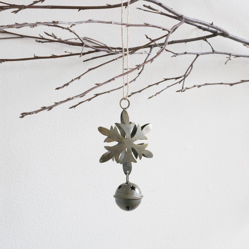 New Antiqued Brass Snowflake Ornament