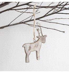 New Carved Wooden Deer Ornament