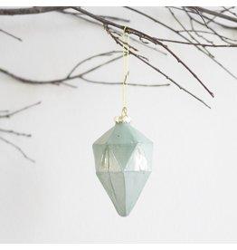 New Mint Green Glass Ornament – Cone