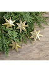 New Distressed Gold Starburst Ornament