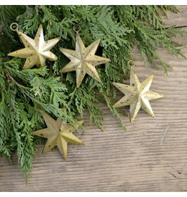 New Antiqued Gold Starburst Ornament