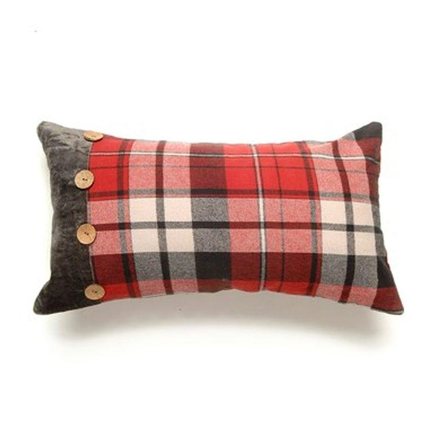 New Plaid Throw Pillow
