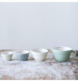New Seafoam Stoneware Measuring Cups