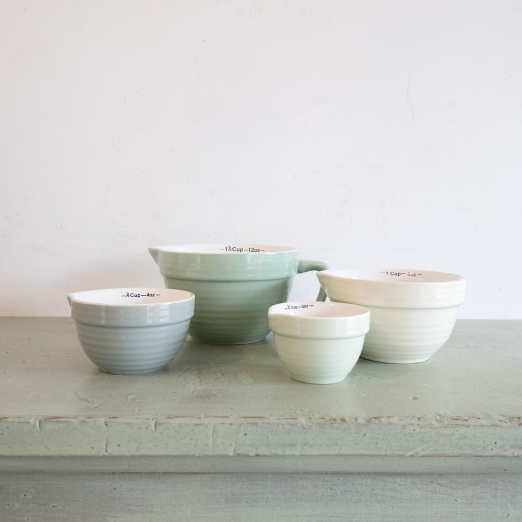 New Seafoam Stoneware Measuring Cups
