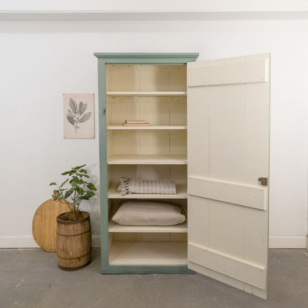 Vintage Painted Cabinet with Shelves