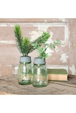 New Mini Mason Jar with Flower Frog