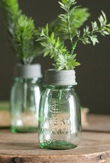 Mini Mason Jar with Flower Frog
