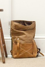 Waxed Canvas + Leather Back Pack