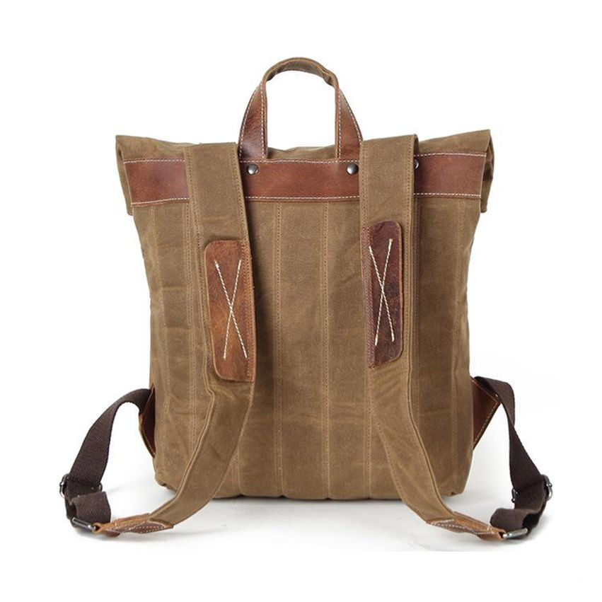 New Waxed Canvas + Leather Back Pack
