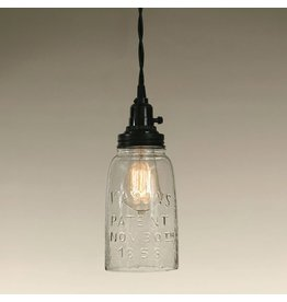 New Mason Jar Pendant Light - Clear Half Gallon