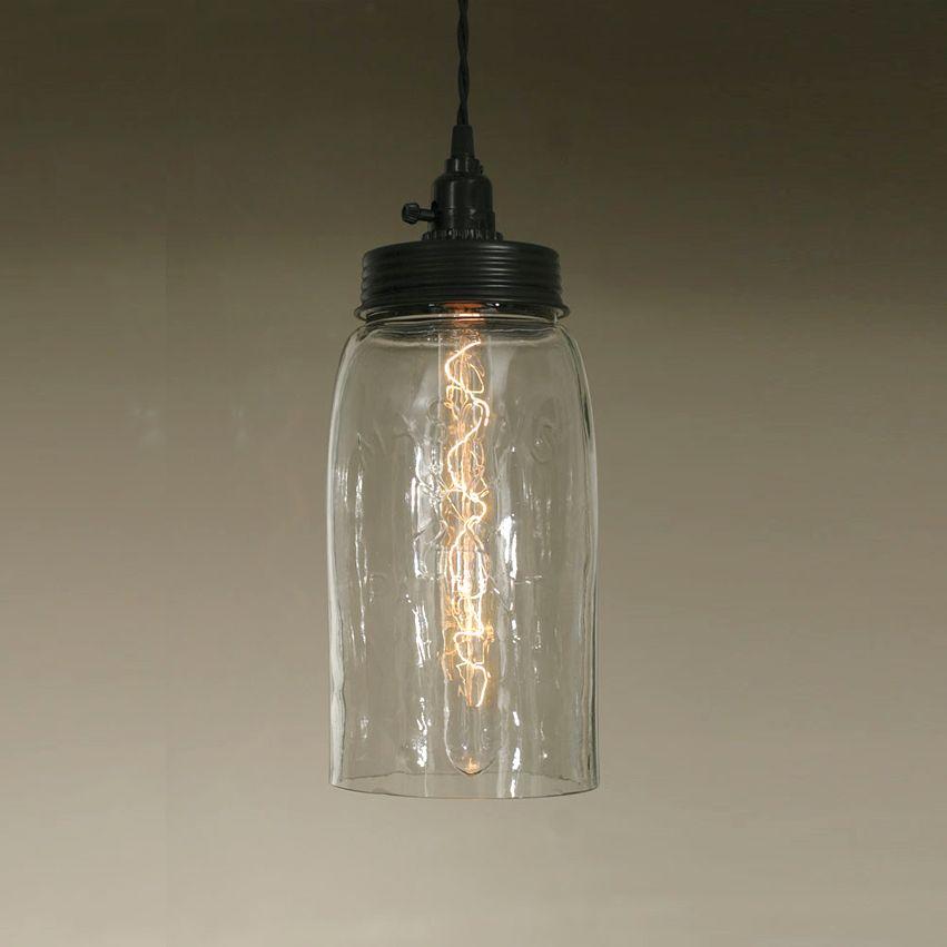 New Mason Jar Pendant Light - Large