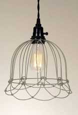 Wire Shade Pendant Light - Galvanized