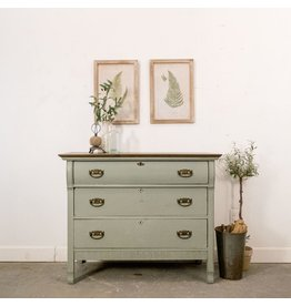Found Antique Painted Dresser