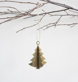 Antiqued Brass Tree Ornament