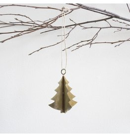 New Antiqued Brass Tree Ornament