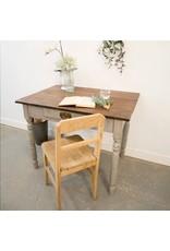 Found Painted Oak Table / Desk