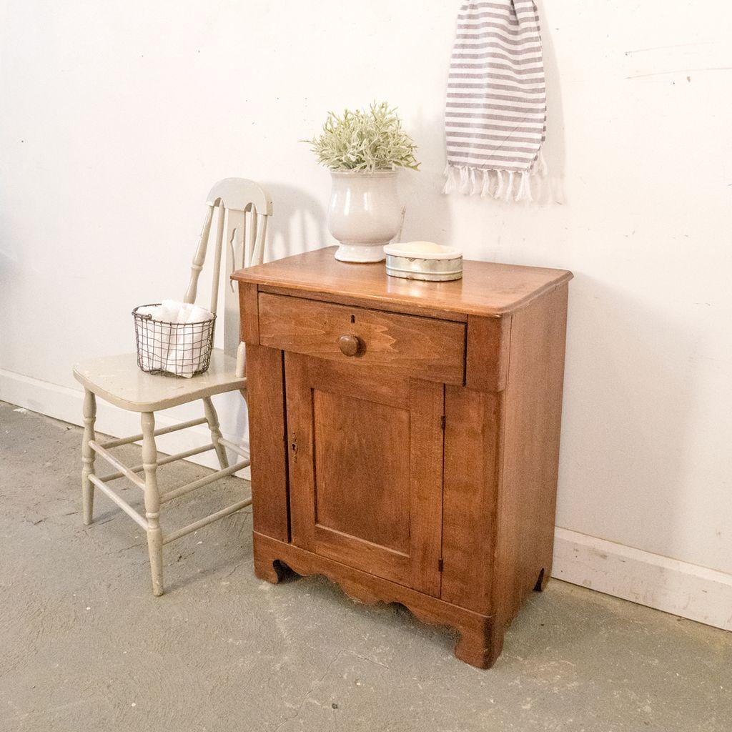 Antique Wooden Washstand