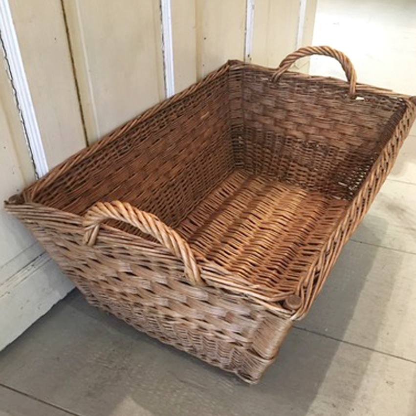 Antique Hungarian Hamper Basket
