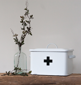 Enameled Tin First Aid Box